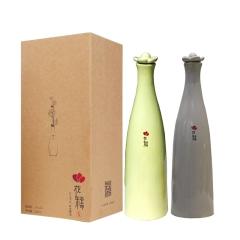 12°花糯手工原浆黄酒·半干型儒雅灰520ml+新芽黄520ml
