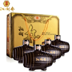 35°扳倒井小三星450ml手提礼盒(4瓶装)