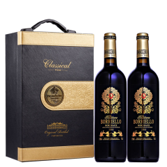 法国原瓶进口博列诺酒庄干红葡萄酒礼盒装750ml(2支装)