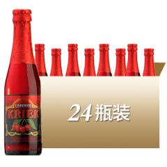 比利时进口林德曼樱桃啤酒水果味啤酒250ml*24瓶